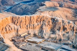 Aerial view of the Valley of the Kings, Luxor