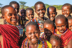Happy Samburu children