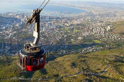 Cable car descending Table Mountain, Cape Town
