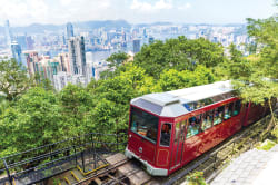 Tram to Victoria Peak, Hong Kong