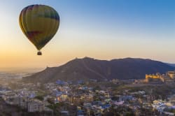 Hot air balloon ride over Jaipur