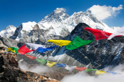 Prayer flags, Mt. Everest