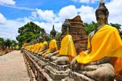 Stone Buddhas, Ayutthaya
