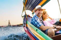 Boat ride on the Chao Phraya River, Bangkok