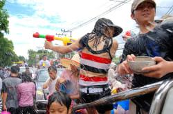 Songkran Festival, Chiang Mai Photo by Takeaway on Wikipedia