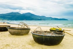 Bamboo boats, China Beach