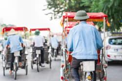 Vietnamese cyclos, Hanoi