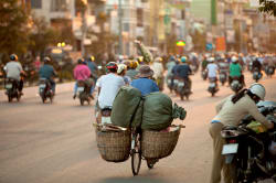 Streets of Saigon in the early evening