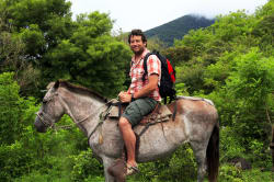 Man on horseback, Arenal