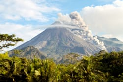 Arenal Volcano erupting