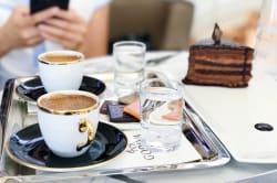 Viennese coffee and cake Photo by Alisa Anton on Unsplash