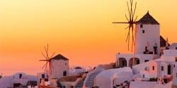 Windmills in Oia