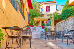 Cafe in Plaka, Athens