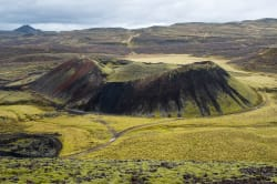 Grábrók volcanos' crater