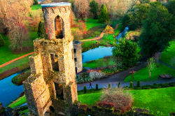 Aerial view of Blarney Castle Tower