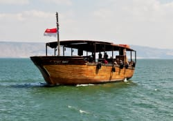 Boat ride on the Sea of Galilee photo by Jayme del Rosario