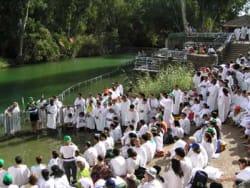 Baptism service, Yardenit