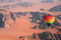 Hot air balloon ride, Wadi Rum