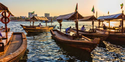 Abra water taxis, Dubai Creek