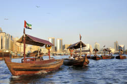 Abra water taxis, Dubai Creek