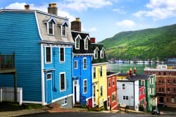 Colorful houses in St John's