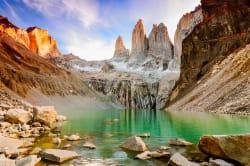 The Torres del Paine at sunrise