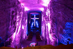 Chapel in the salt mines of Zipaquirá
