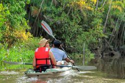 Exploring the Amazon on a kayak photo by MV Manatee ©Anakonda Amazon Cruises