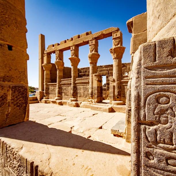 Aswan Philae Temple Heiroglyphs