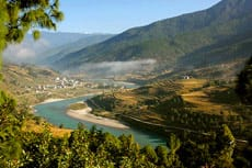 Mountain view from Punakha