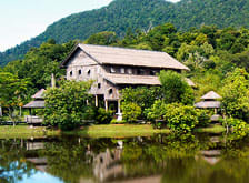 Sarawak traditional longhouse village