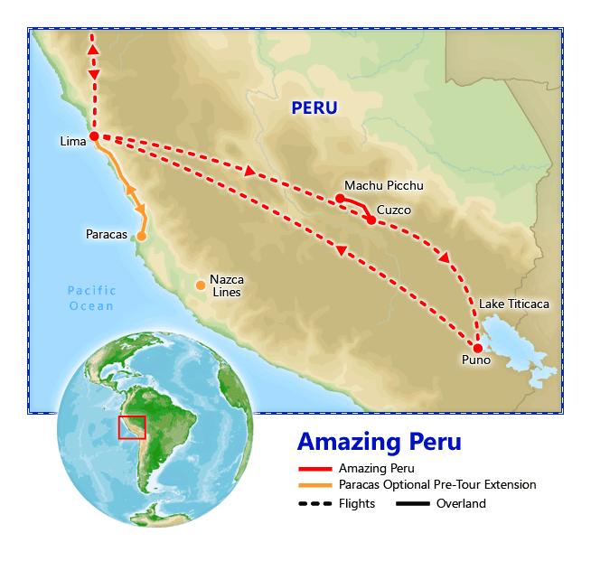 Amazing Peru map
