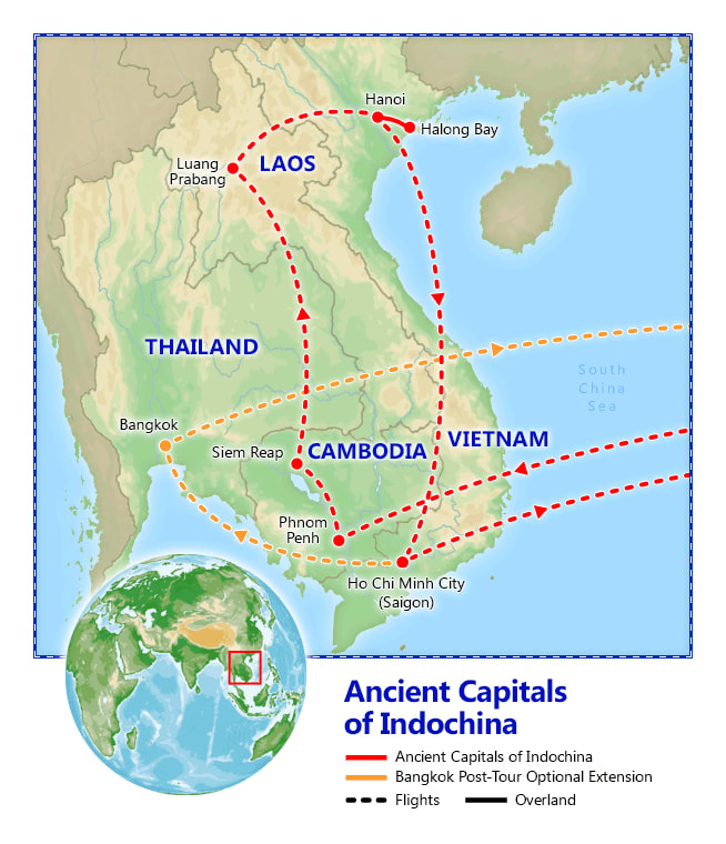 Ancient Capitals of Indochina map