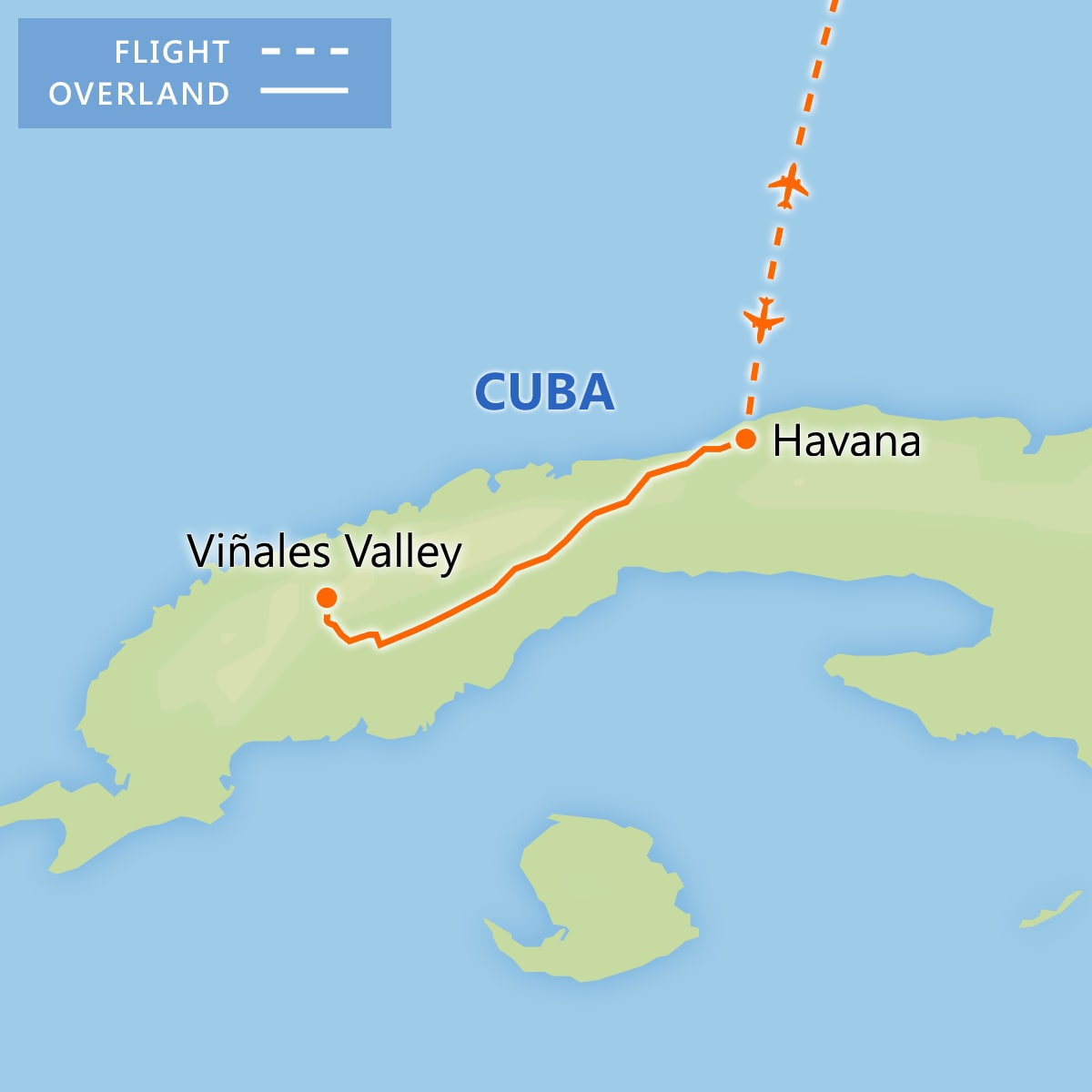 Authentic Havana & the Scenic Viñales Valley map