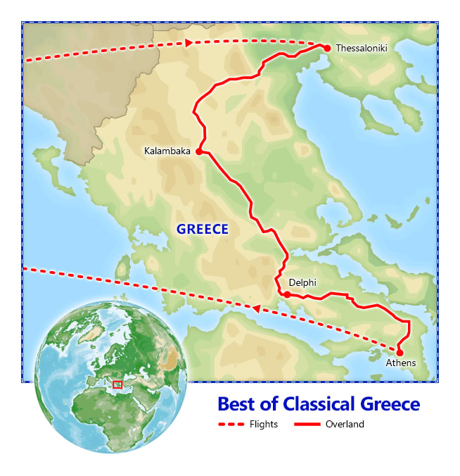 Best of Classical Greece map