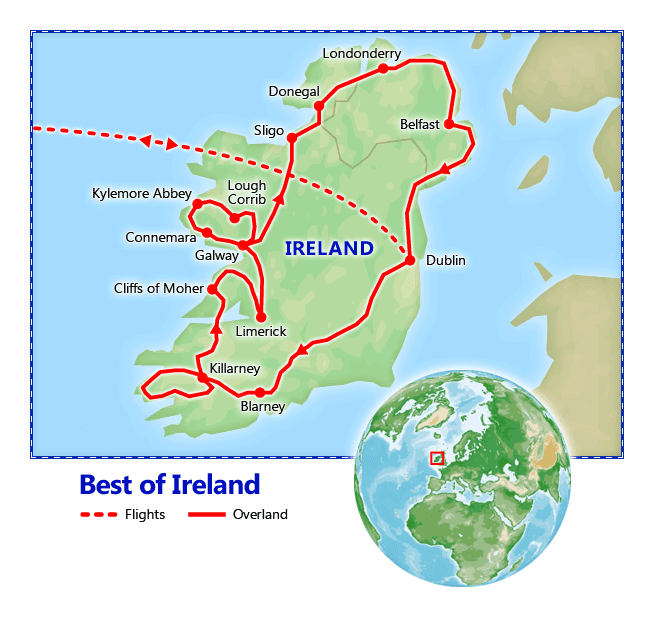 Best of Ireland map