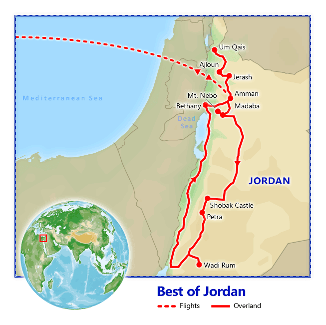 Best of Jordan map