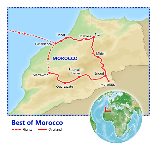 Best of Morocco map