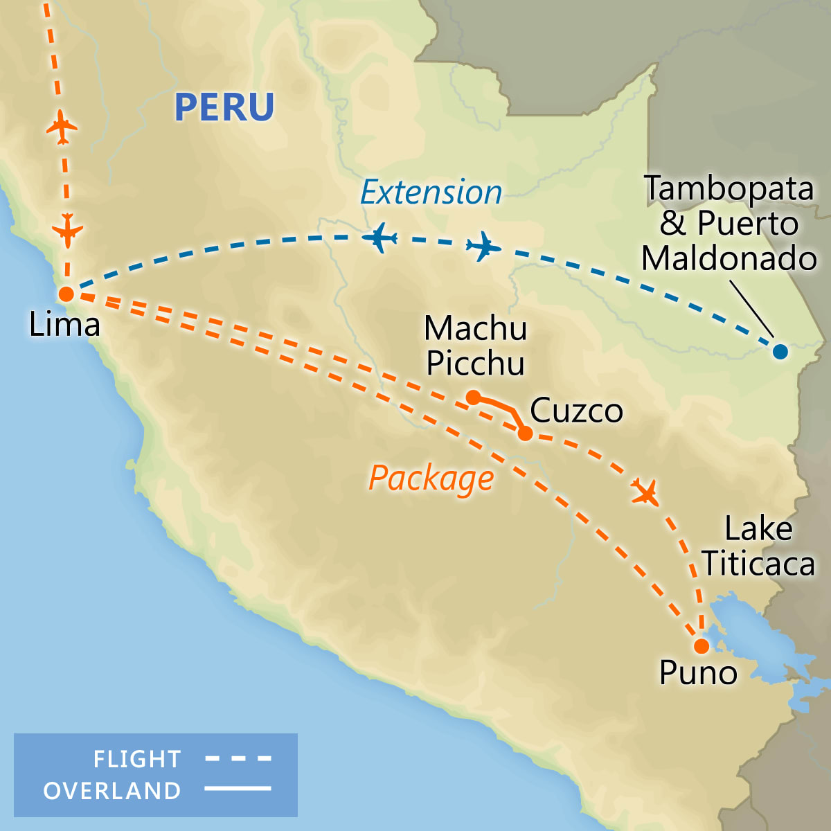 Best of Peru map