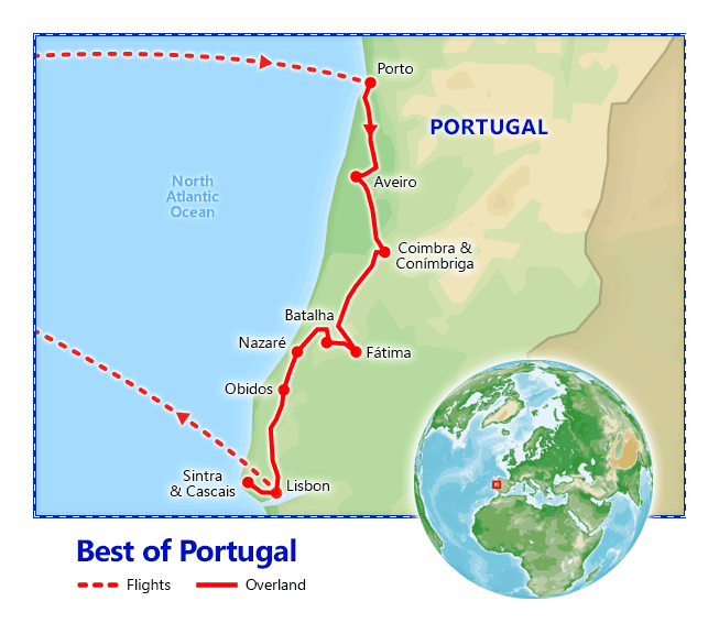 Best of Portugal map