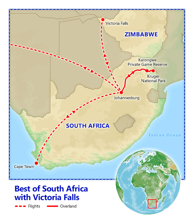 Best Of South Africa With Victoria Falls Vacation Package
