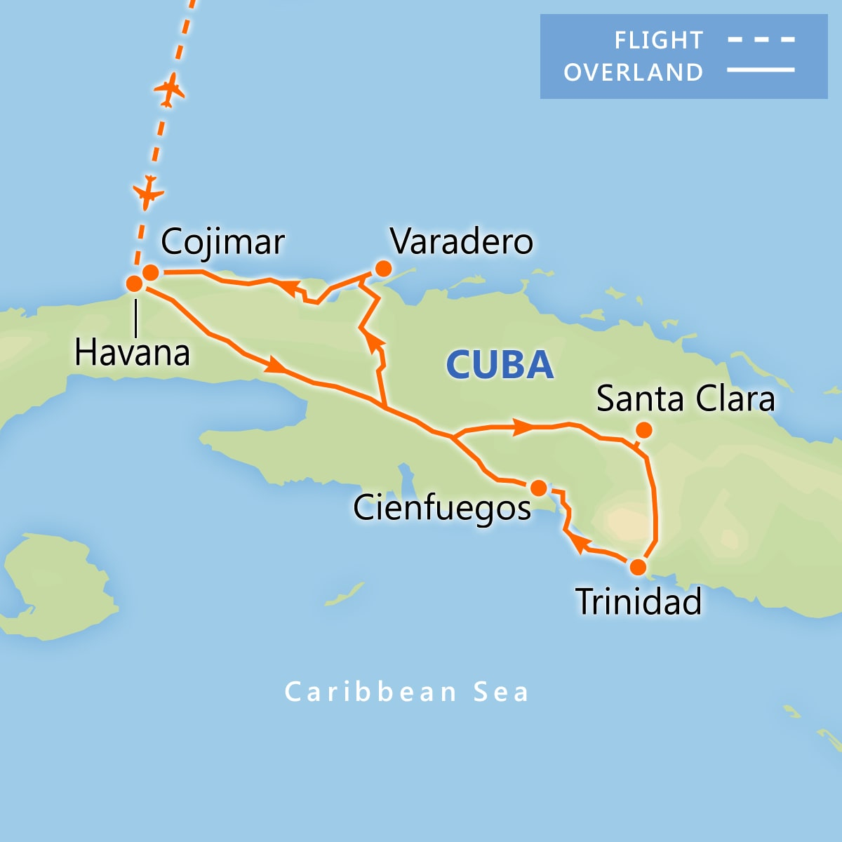 Captivating Cuba map