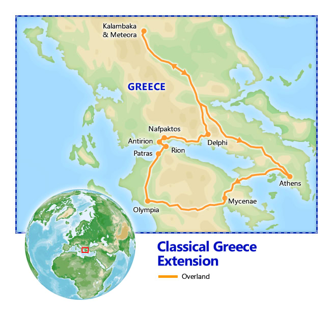 Classical Greece Extension map