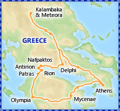 Classical Greece Extension itinerary
