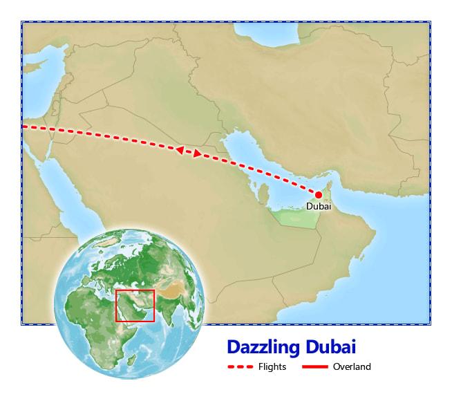 Dazzling Dubai map
