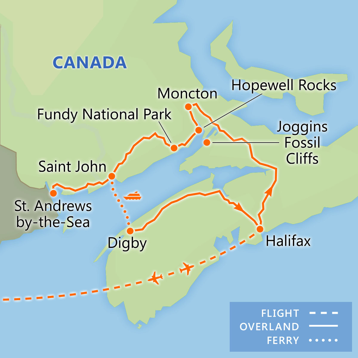 Discover the Bay of Fundy map