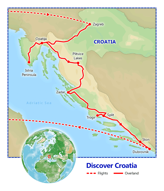 Discover Croatia map