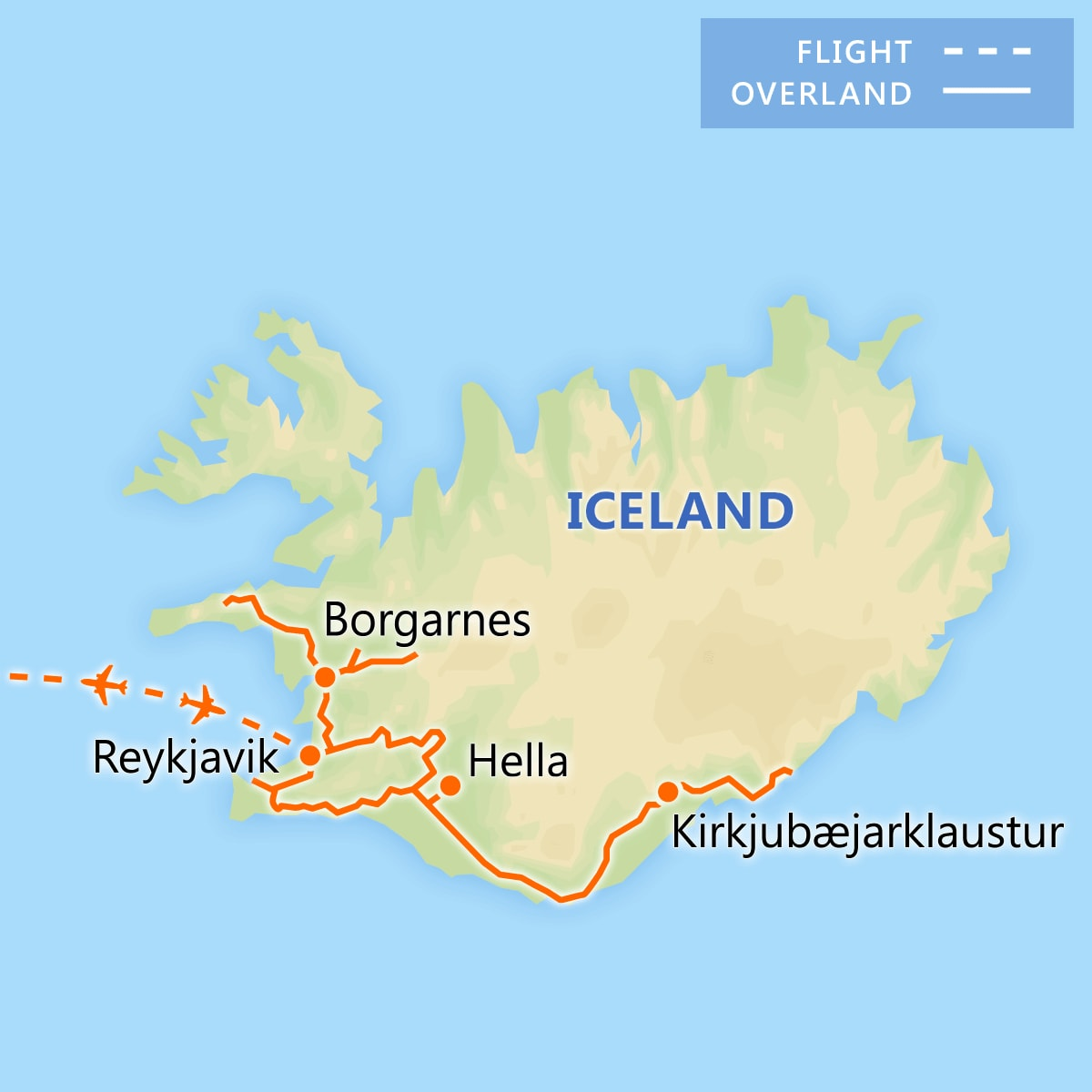 Discover Iceland's Northern Lights map