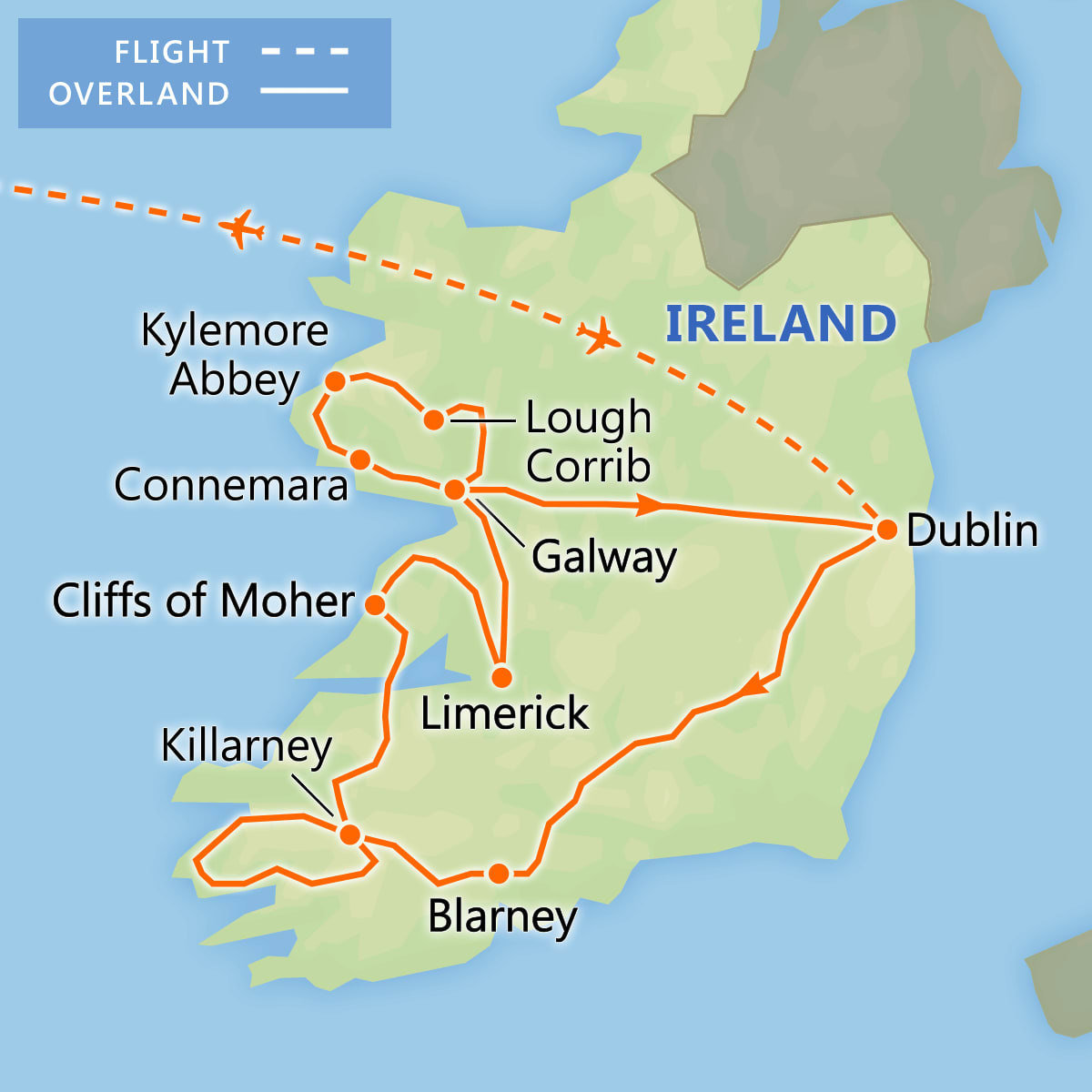 Discover Ireland map