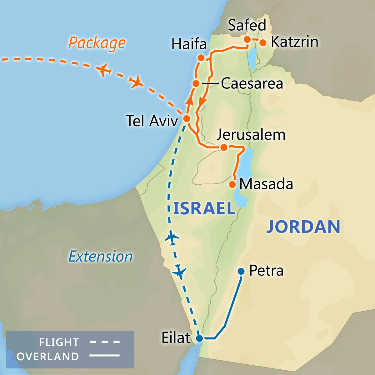 Discover Israel map